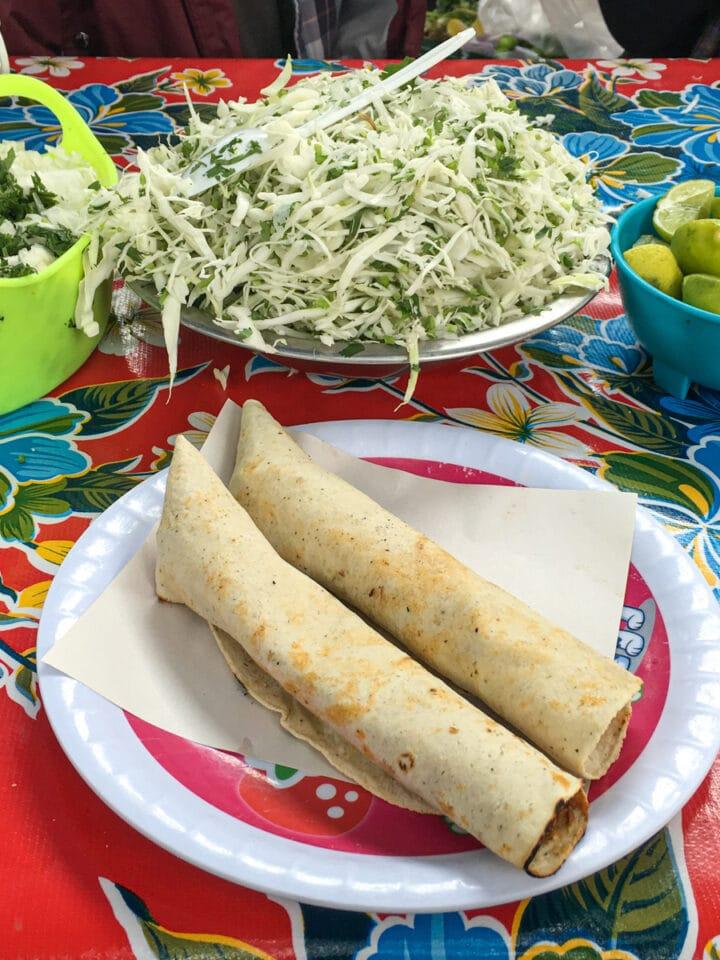 Street market tacos