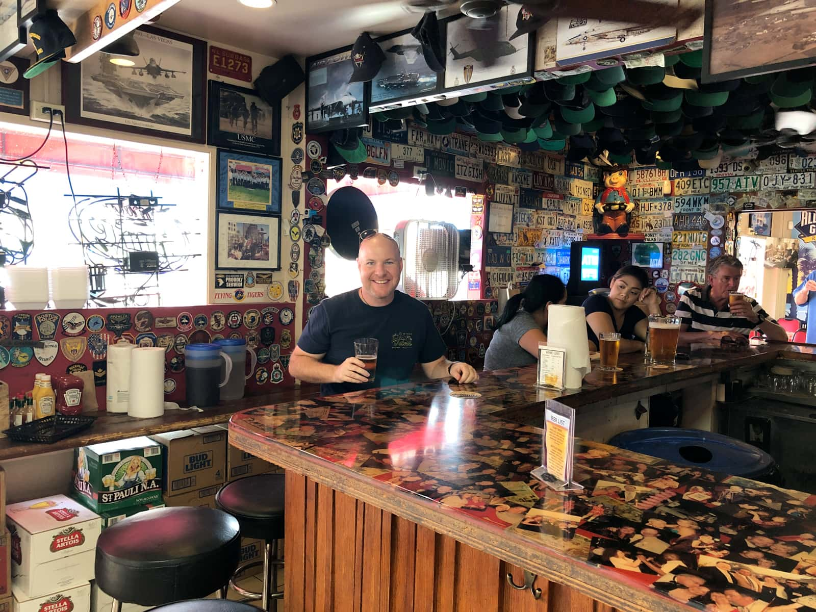 Dave at Kansas City Barbeque (the bar from Top Gun) in San Diego, CA