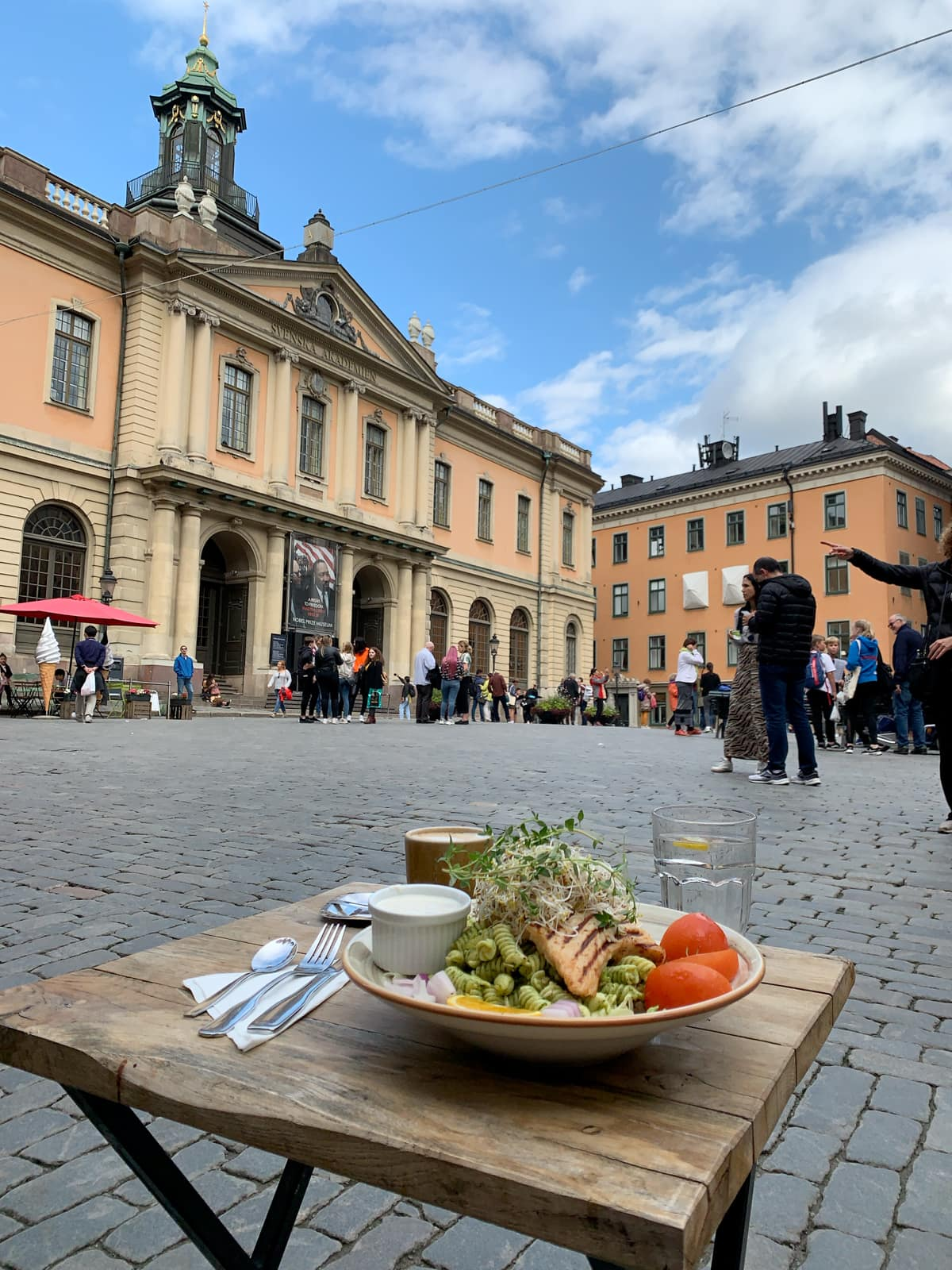 Dining al fresco in Stockholm