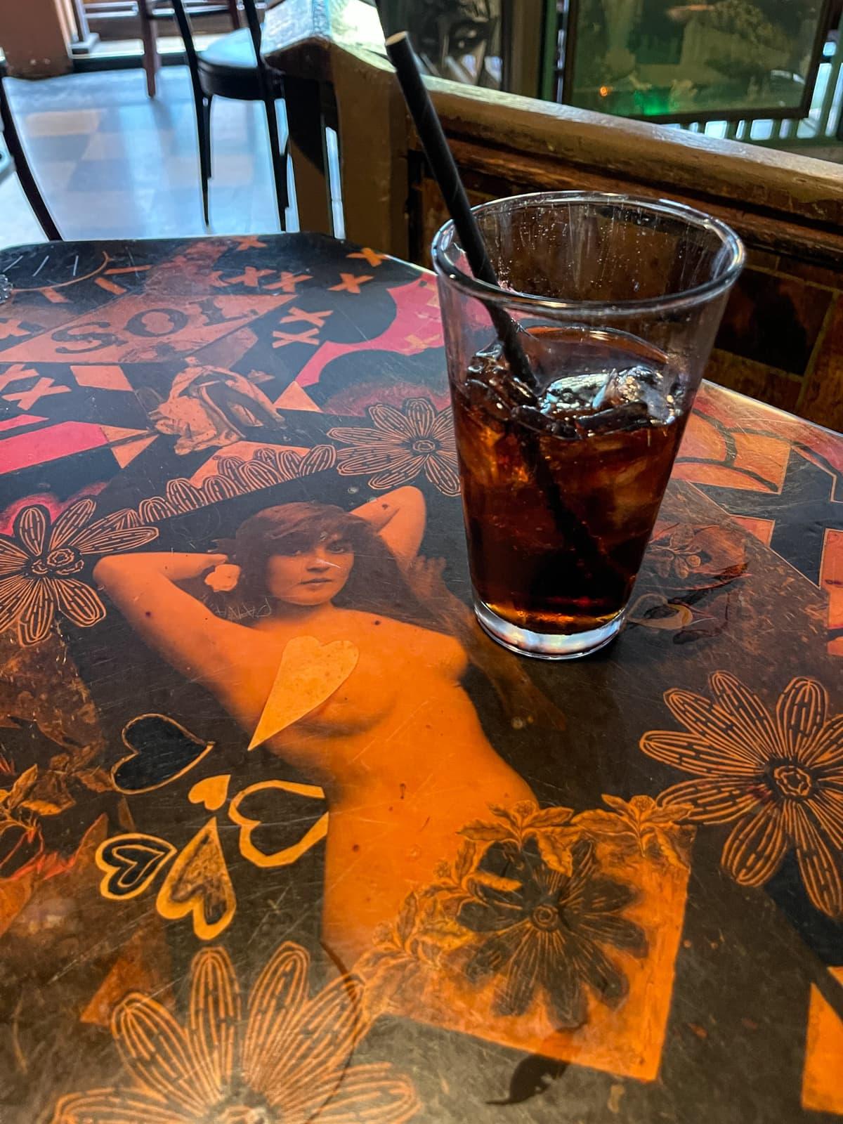 Table at Vesuvio Cafe