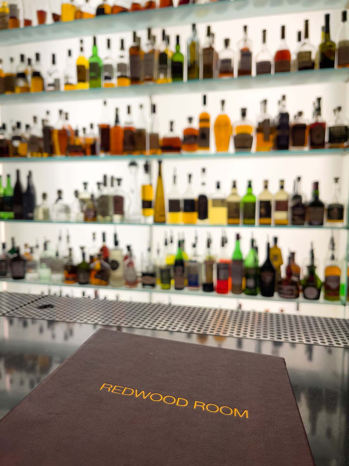 The bar at Redwood Room