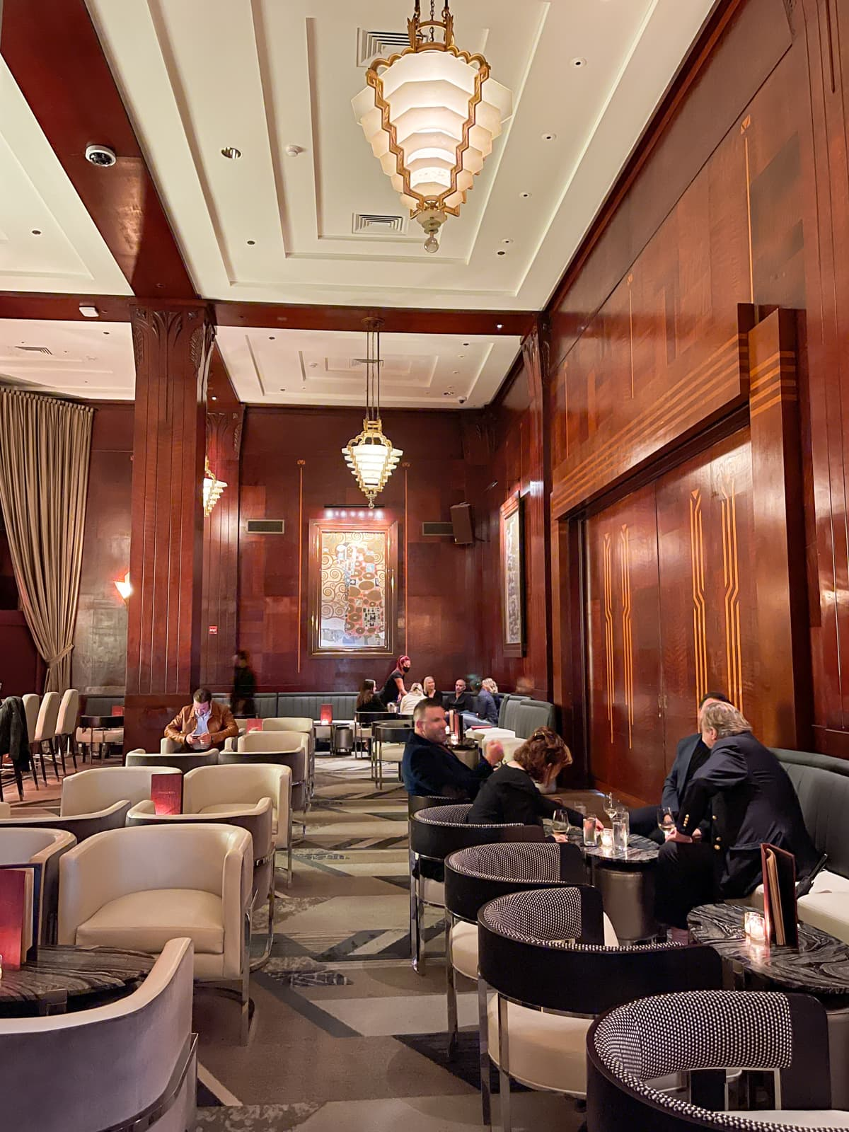Inside the Redwood Room, a speakeasy in San Francisco