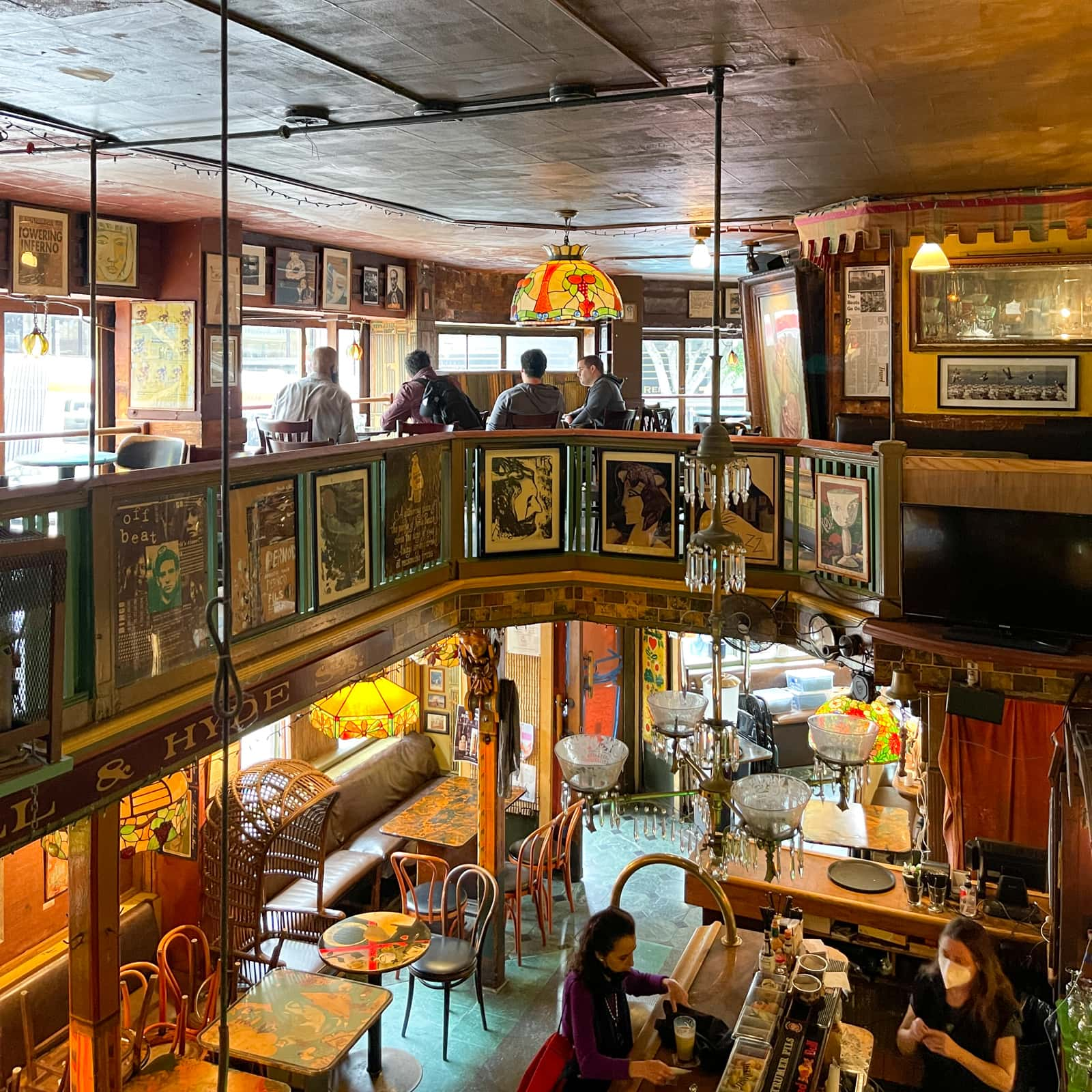 Vesuvio Cafe interior